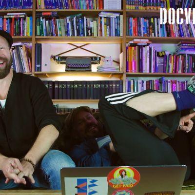 Riku Rantala ja Tunna Milonoff sohvalla