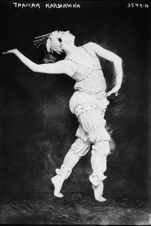 Balettdansösen Tamara Platonovna Karsavina