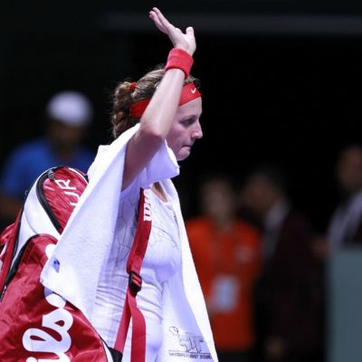 Petra Kvitova poistui kentältä tappio niskassaan.