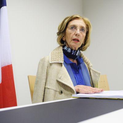 Ranskan ulkomaankauppaministeri Nicole Bricq EU:n kauppaministereiden kokouksen tiedotustilaisuudessa Luxemburgissa 14. kesäkuuta.