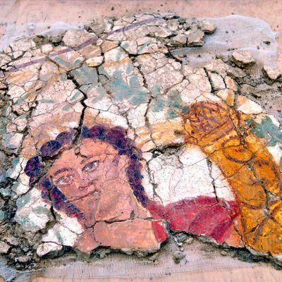 Osa Priapuksen freskoa.