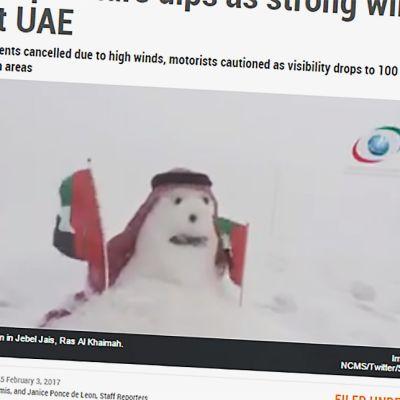 Kuvakaappaus Gulfnews sivustolta.