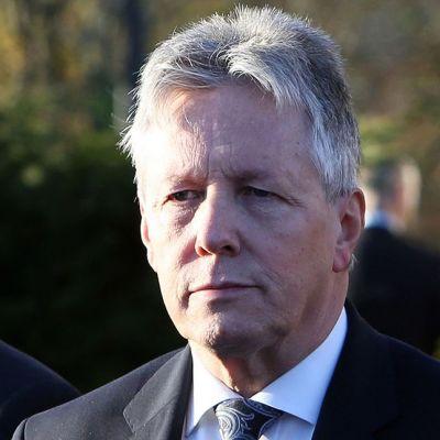 Pohjois-Irlannin eroava pääministeri Peter Robinson.