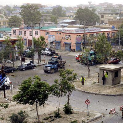 Itsemurhaiskun jälkiä Kabulissa.