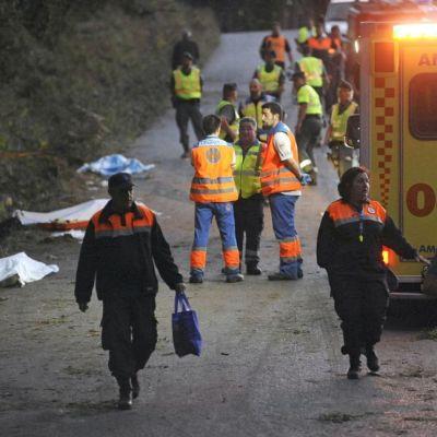 Åtminstone sex personer dog och flera skadades efter att en rallybil störtade mot en folkmassa i Spanien den 5 september 2015.