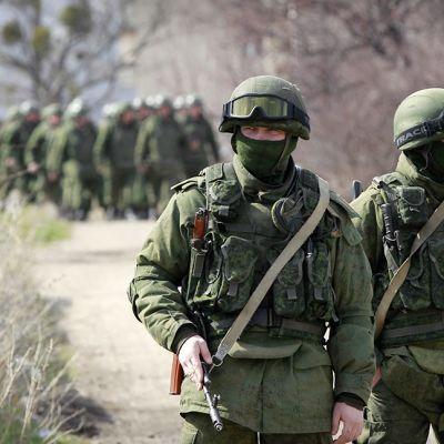 Sotilaita Krimillä.