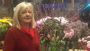 Pyre Wichmann har haft blomsterhandeln Blå Tulpan sedan 1988.