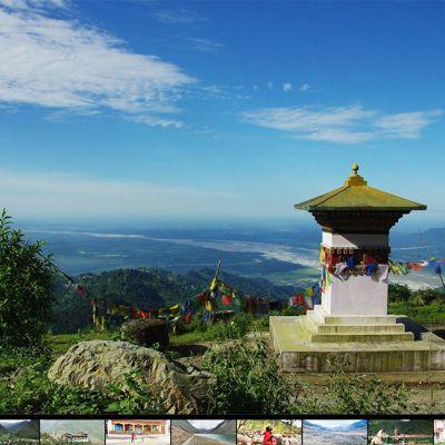Vuoristomaisemaa Bhutanista