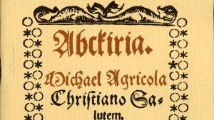 Mikael Agricolan Abckirian kansilehti