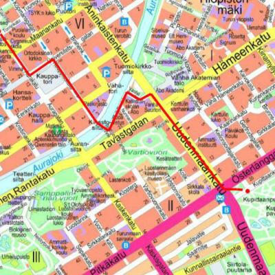 karta över hur marschen går