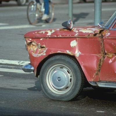 Rusikoitu Fiat 1980-luvun alusta.