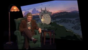 Stradan Ivan Puopolo, taustalla Totoro