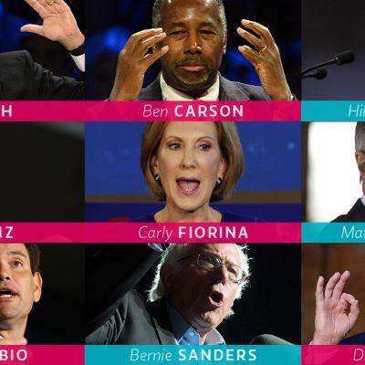 Yhdysvaltain presidentinvaalit 2016 esivaaliehdokkaat tammikuussa