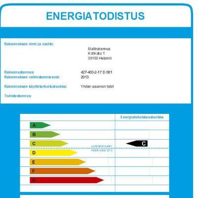 Energiatodistuksen mallikappale