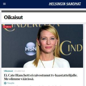 Helsingin Sanomien oikaisu