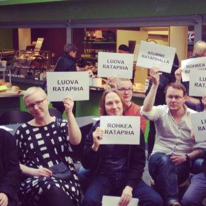 äänestys Oulussa ratapihan suunnittelusta