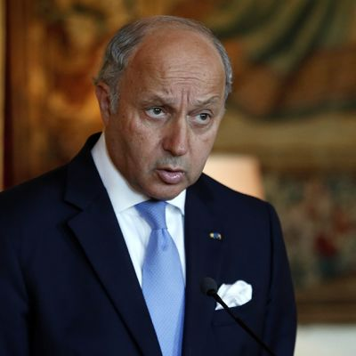 Ranskan ulkoministeri Laurent Fabius kommentoi tilannetta Pariisissa torstaina 24. heinäkuuta 2014.