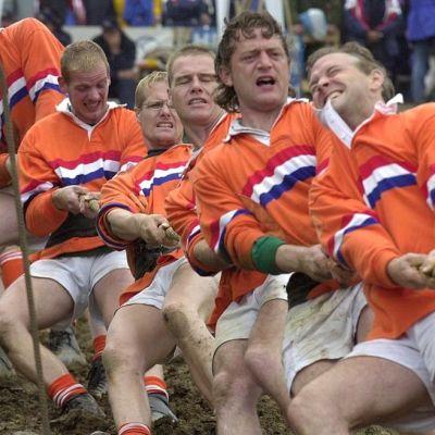 Olisiko köydenvedosta jälleen olympialajiksi? Lajissa kilpaillaan muun muassa maailmanmestaruuksista ja Euroopan mestaruuksista. Kuvassa Alankomaiden joukkue.
