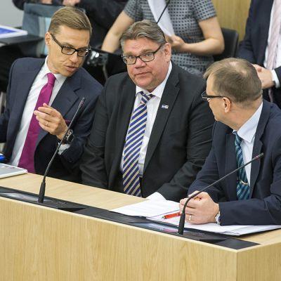 Alexander Stubb, Timo Soini Ja Juha Sipilä