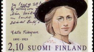 Edith Södergran som frimärke