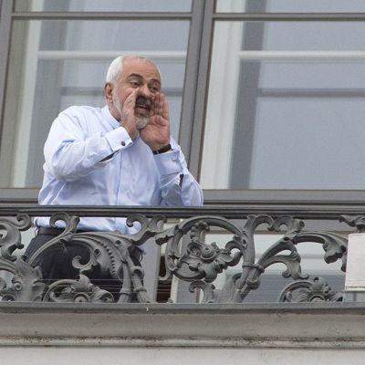 Irans utrikesminister Mohammad Javad Zarif under Iranförhandlingarna i Wien den 13 juli 2015.