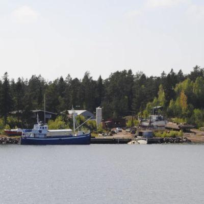 Arkistokuva Korppoon satamasta.