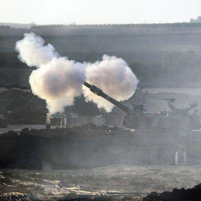 Israel tulitti Gazaa 25. heinäkuuta 2014.
