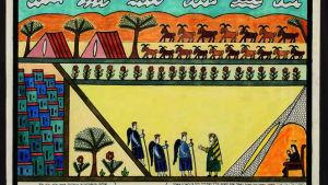 Målning av Shalom von Safed.