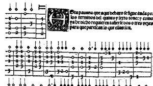 Tabulatuuria Luis de Milanin opuksesta El Maestro