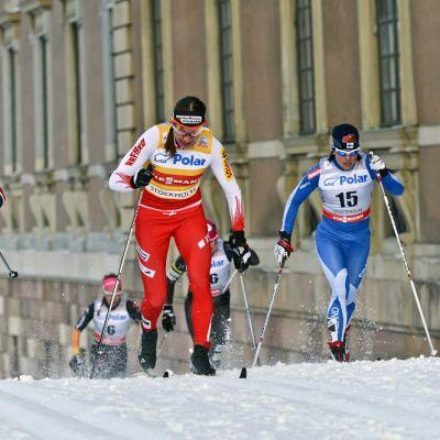 Ingvild Flugstad Östberg, Justyna Kowalczyk ja Krista Lähteenmäki kisaavat Tukholman sprintissä.