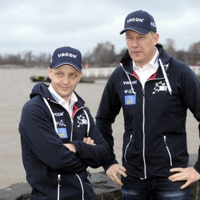 Mikko Hirvonen ja Jarmo Lehtinen