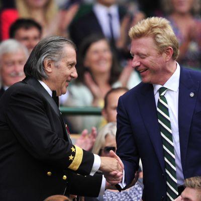 Ilie Nastase ja Boris Becker kättelevät