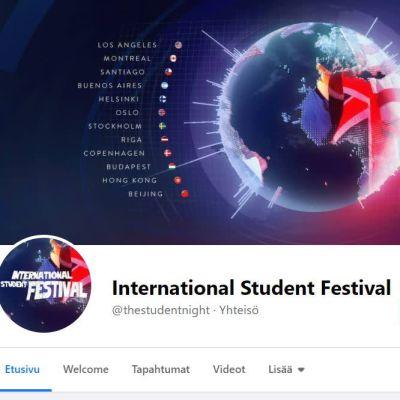 Kuvakaappaus International Students Festival -järjestön Facebookista.