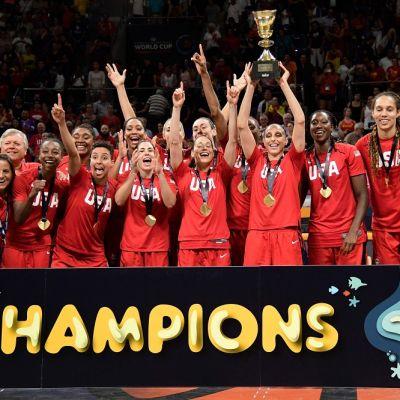 USA:n koripallonaiset kuvassa