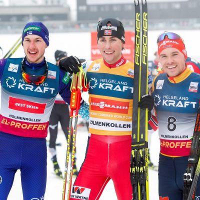Ilkka Herola, Jarl Magnus Riiber ja Fabian Riessle kuvassa