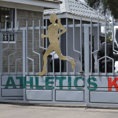 Kenian yleisurheiluliiton kulkuportti.