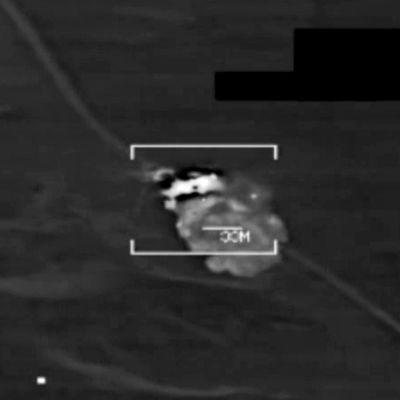 Kuvankaappaus videosta, jossa Yhdysvaltain sotavoimien mukaan näkyy islamistien tekemä isku Pohjois-Irakissa 8. elokuuta.