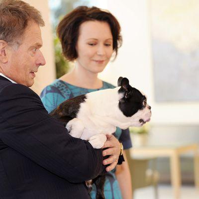 Presidentti Sauli Niinistö ja puoliso Jenni Haukio.