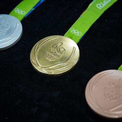 Rion olympiakisojen mitalit.