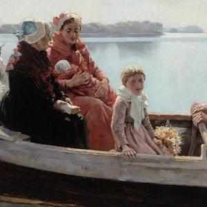 """""""Dopfärd"""" är målad 1880 av Albert Edelfelt."""