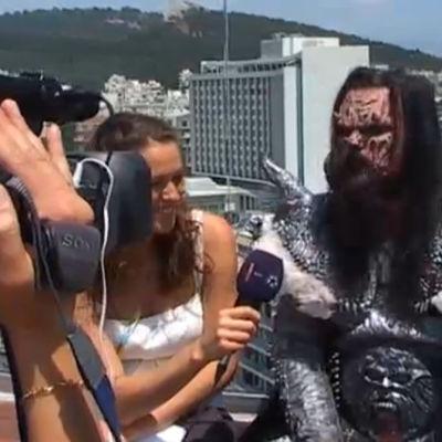 Lordi Ateenassa ennen Euroviisuja.