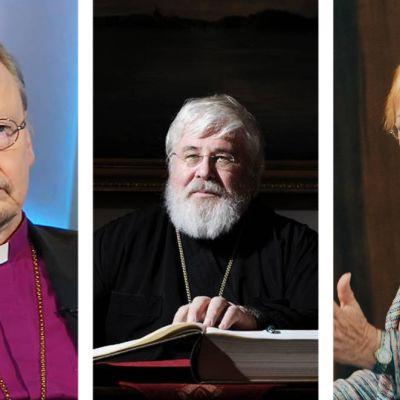 Arkkipiispa Kari Mäkinen, arkkipiispa Leo, presidentti Tarja Halonen