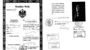 Tyskt pass för jägare Birger Lemberg