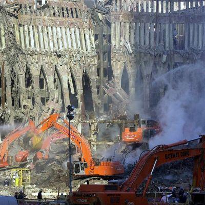 WTC:n raunioita New Yorkissa.