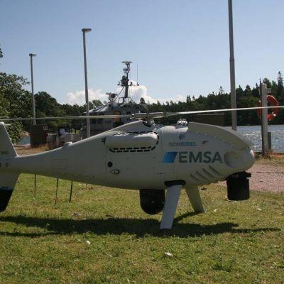 Miehittämätön ilma-alus Camcopter S100 maassa.