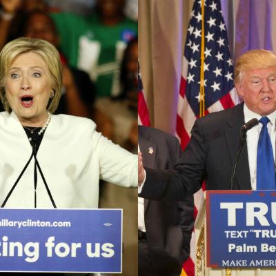 Donald Trump håller tal i Florida under supertisdagen 2016, Hillary Clinton talar under supertisdagen 2016