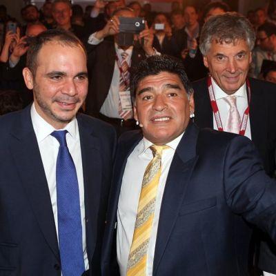 Jordanian prinssi Ali ja Diego Maradona