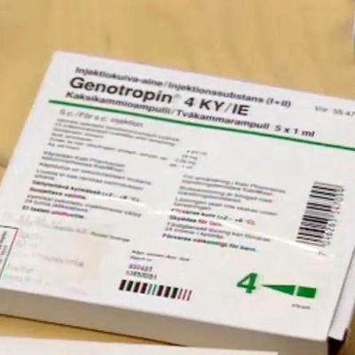 Ett tillväxthormon(Genotropin) paket