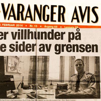 Valokuva Sor-Varanger -lehdestä