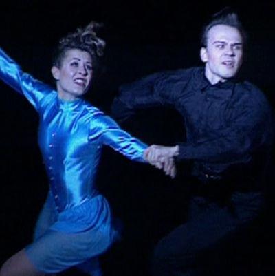Susanna Rahkamo ja Petri Kokko jäätanssin EM-kisoissa vuonna 1993
